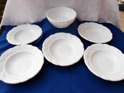 5 db tányér + tál