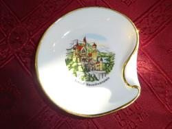 Gerold Bavaria német porcelán hamutál.  Átmérője 8,5 cm.