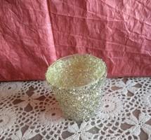 Arany gyöngyökkel mécsestartó pohár karácsonyi dekoráció, ajánljon!