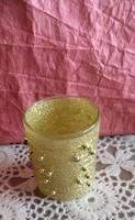 Arany gyöngyös ünnepi mécsestartó pohár karácsonyi, ajánljon!