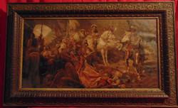 A törökök legyőzése - Vagy 100 éves olaj nyomat  Benczúr Gyula híres festménye alapján