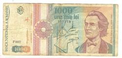 1000 lei 1992 Románia