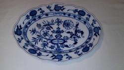 Ovális meisseni porcelán tál 19.sz.