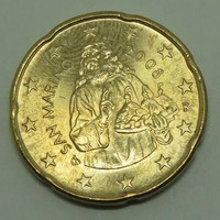 20 Euro cent San Marino 2008 - Forgalmi érem