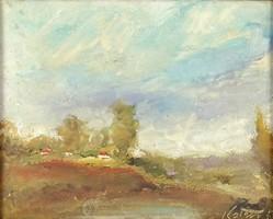 1C998 XX. századi magyar festő : Reggeli táj