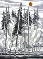 Fazakas Tibor: Bugaci erdő  (akril-papír) 39x29 cm