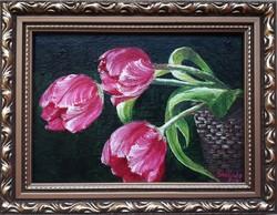 Tulipánok + ajándék keret!