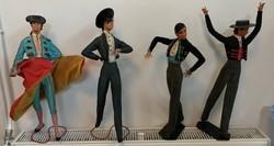 1940 körüli Spanyol Marin Chiclana matador figurák 52 cm