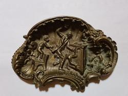 ANTIK BRONZ RITKASÁG GYŰJTŐKNEK! Gyerekverés az iskolában bronzba öntve! 1800-as évek végéről