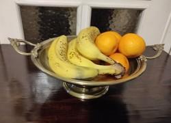 Antik Asztali kínáló, Asztalközép réz díszes fogantyú süteményeknek,gyümölcs kínáló, cukorkàkhoz.