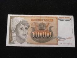 Jugoszlávia 100000 Dínár