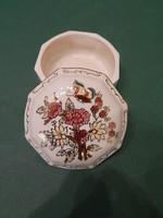Zsolnay 8 szögletű pillangós bonbonier