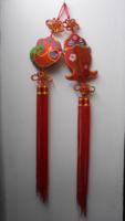 Feng Shui függő kínai halas piros párban