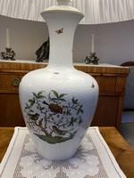Gyönyörű és ritka nagyméretű 104cm magas Herendi Rothschild mintás lámpa eredeti hibátlan ernyővel.