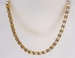 Sárga-fehér arany nyakék (ZAL-Au86348)