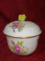 Herendi porcelán, HBC mintás nagy méretű cukortartó, magassága 12,5 cm.
