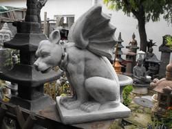 Ritkaság ! Nagy Kapu Őrző szárnyas sárkány kutya Műkő mitológiai  állat Nem sas