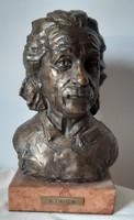 Nyírő Gyula: Albert Einstein, bronz szobor, 25 cm, 5.5 kg