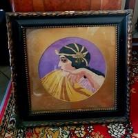 Art deco gobelin, méret: 42,53x42,5cm