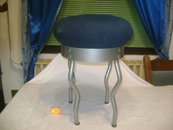 Art deco puff, szék, ülőke fém lábakon