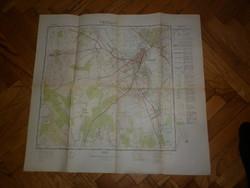Régi térkép magyar néphadsereg vezérkara oktatótérkép szegvár
