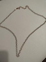 Szép mutatós rose aranyozott ezüst nyaklánc