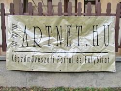 Transzparens (2x1m) - www.artnet.hu - Képzőművészeti Portál és Folyóirat - reklám plakát
