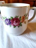 Royal dux Bohémia virág mintás szoknyás bögre gyönyörű