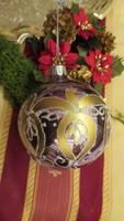 Régi üveg karácsonyfadísz gömb