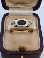 Gyémánt - Zafír  Gyűrű