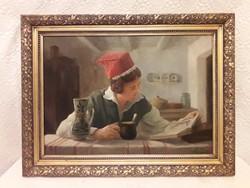 Olvasó lány - festmény ( Mesterházy  ? )