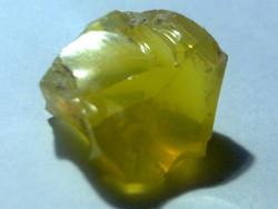 Áttetsző tiszta sun yellow 100% természetes opál 6,25 ct drágakő