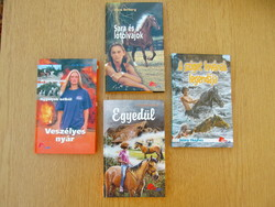 (újszerű) Pony Club könyvek: Egyedül, Veszélyes nyár, A sziget lovának legendája, Sára és a lótolvaj