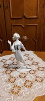 Kurt Steiner ritka porcelán szobrocska - Tinédzser kendővel