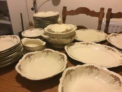 Rosenthal Elfenbein Victoria antik, 10 személyes étkészlet, sütis készlet  (400))