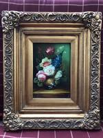 2db Gyönyörű festmény,virág csendélet.