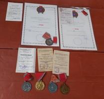 Tűzoltó ,tűzoltóság,5 , 10 15 éves  Önkéntes tűzoltó szolgálatért kitüntetés ,érem,  igazolvány,