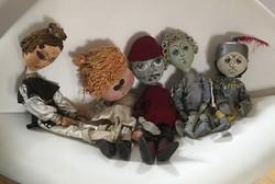 Régi marionett bábok