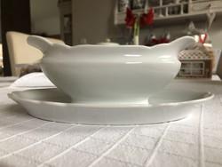 Hófehér gyönyörű formájú porcelán szószos tál
