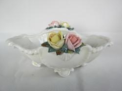 ENS porcelán tál rózsa díszítéssel 23 cm