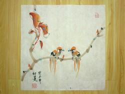 Két madár, kínai festmény