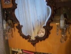 Kristályüveg falikar-pár
