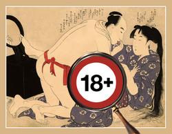 SHUNGA, Utamaro: Love Couple In Front Of Mirror, 1799.