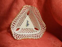 Gyönyörű porcelán fonott  tál