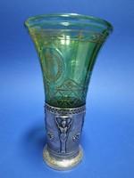 Üveg pohár ezüsttel