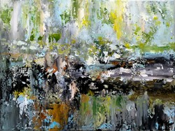"""""""Sylvan"""" abstract landscape, modern painting, Signed, direct from the artist!"""