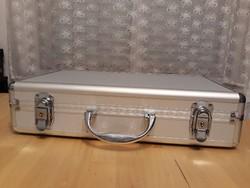 Ordex 67183 érmetartó alumínium bőrönd 5 tálcával