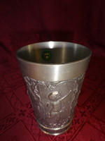 Grenningloh zinn kupa, 95 %-os, felső átmérője 8 cm.