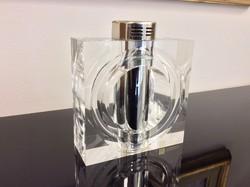 Igazi luxus design termék a 70-es évekből. Antonio Botta akril-üveg öngyújtó bauhaus stílusban.