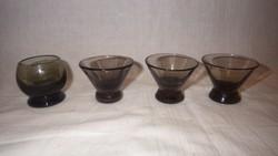 3+1 db antik likőrös pohár kiegészítésnek